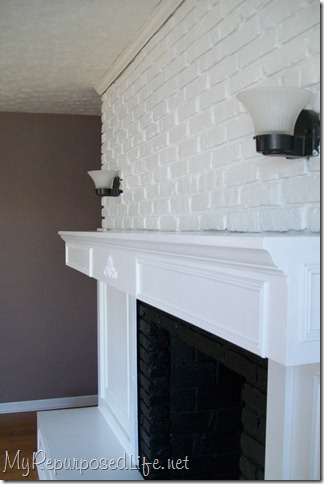 Brick Fireplace Makeover - My Repurposed Life™